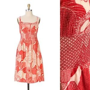 ⭐️NEW ARRIVAL Anthropologie Red Smocked Sundress 6